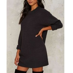 Nasty Gal Knit Sweater Dress Size XS